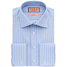 Buy Thomas Pink Koppel Stripe Double Cuff Shirt, Blue/White Online at johnlewis.com
