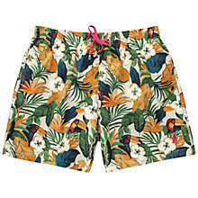 Buy Thomas Pink Toucan Swim Shorts, Green/Multi Online at johnlewis.com