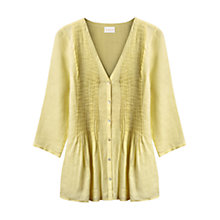 Buy East Linen Pintuck V-Neck Blouse Online at johnlewis.com