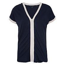 Buy French Connection Nat Seam Top, Utility Blue Online at johnlewis.com