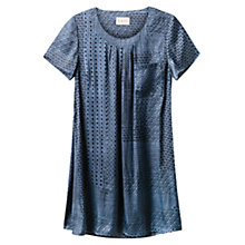 Buy East Geo Patchwork Dress, Indigo Online at johnlewis.com