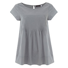 Buy Mint Velvet Embroidered Babydoll Top, Duck Egg Online at johnlewis.com