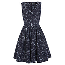Buy Karen Millen Silhouette Print Denim Dress, Blue Online at johnlewis.com