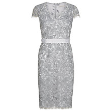 Buy Jacques Vert Corded Lace Dress, Light Grey Online at johnlewis.com