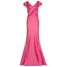 Buy Jacques Vert Maxi Lattice Bodice Dress, Bright Pink Online at johnlewis.com