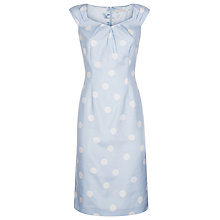 Buy Jacques Vert Spot Print Shift Dress, Light Blue Online at johnlewis.com