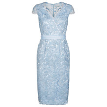 Buy Jacques Vert Corded Lace Dress, Light Blue Online at johnlewis.com
