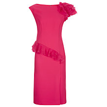Buy Jacques Vert Rose Frill Detail Dress, Bright Pink Online at johnlewis.com