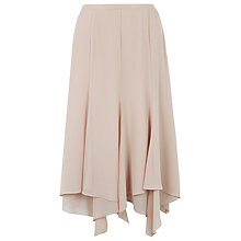 Buy Jacques Vert Chiffon Hanky Hem Skirt, Mid Neutral Online at johnlewis.com