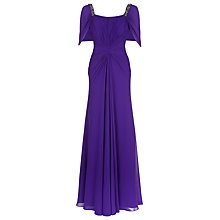 Buy Jacques Vert Chiffon Beaded Dress, Bright Purple Online at johnlewis.com