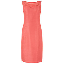 Buy Jacques Vert Flower Applique Shift Dress, Bright Pink Online at johnlewis.com