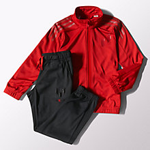 Buy Adidas Boys' Messi Training Tracksuit, Red/Black Online at johnlewis.com