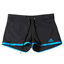 Buy Adidas Climachill Training Shorts, Black Melange/Chill Blue Online at johnlewis.com