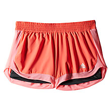 Buy Adidas 2-in-1 Workout Shorts, Flash Red Online at johnlewis.com