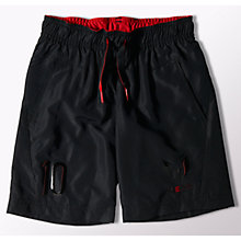 Buy Adidas Boys' Messi Shorts, Black Online at johnlewis.com