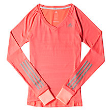 Buy Adidas Supernova Long Sleeve Running Top, Light Flash Red Online at johnlewis.com