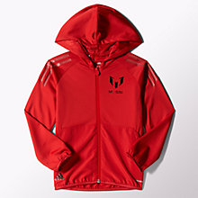 Buy Adidas Boys' Messi Training Hoodie, Red Online at johnlewis.com