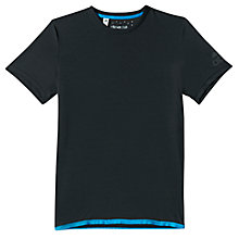 Buy Adidas Uncontrol Climachill Training T-Shirt, Chill Black Melange/Chill Blue Online at johnlewis.com