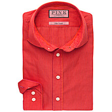 Buy Thomas Pink Carlo Stripe Slim Fit Shirt, Orange/Pink Online at johnlewis.com