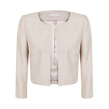 Buy Jacques Vert Pearl Trim Jacket, Mid Neutral Online at johnlewis.com