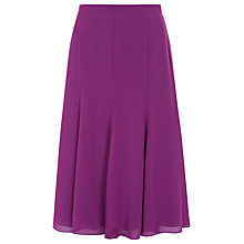 Buy Jacques Vert Chiffon Godet Skirt, Bright Purple Online at johnlewis.com