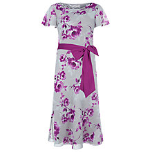 Buy Jacques Vert Peony Flower Print Dress, Multi/Grey Online at johnlewis.com