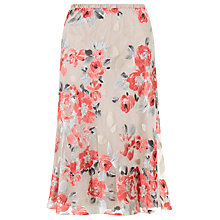 Buy Jacques Vert Devore Floral Skirt, Multi/Cream Online at johnlewis.com