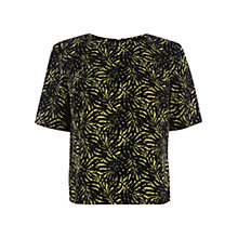 Buy Warehouse Mini Palm Print Top, Multi Online at johnlewis.com