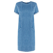 Buy Warehouse Shift Dress, Mid Wash Denim Online at johnlewis.com