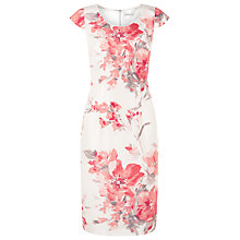 Buy Jacques Vert Blurred Floral Shift Dress, Multi/Cream Online at johnlewis.com