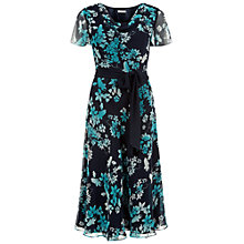 Buy Jacques Vert Butterfly Flower Prom Dress, Multi/Navy Online at johnlewis.com