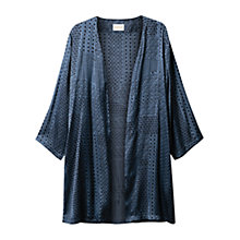 Buy East  Linen Patchwork Kimono, Indigo Online at johnlewis.com