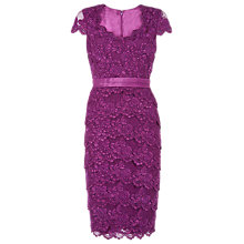 Buy Jacques Vert Embellished Lace Dress, Bright Purple Online at johnlewis.com
