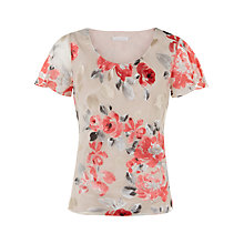 Buy Jacques Vert Devore Flower Blouse, Multi/Cream Online at johnlewis.com