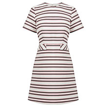 Buy Warehouse Striped Tailored Dress, Multi Online at johnlewis.com