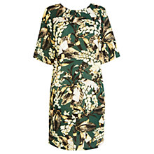 Buy Warehouse Pampas Leaf Cocoon Dress, Green Online at johnlewis.com