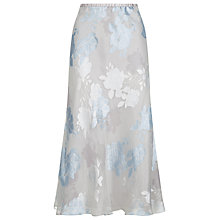 Buy Jacques Vert Floral Devore Skirt, Shadow Online at johnlewis.com