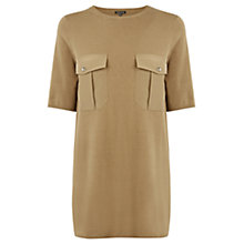 Buy Warehouse Utility Pocket T-Shirt, Tan Online at johnlewis.com