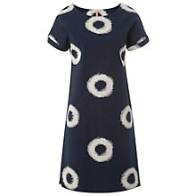 Buy White Stuff Circle Ikat Dress, Oyster Blue Online at johnlewis.com