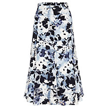 Buy Viyella Sheer Overlay Floral Skirt, Pale Blue/Multi Online at johnlewis.com