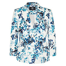 Buy Viyella Printed Linen Blazer, White/Multi Online at johnlewis.com
