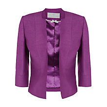Buy Jacques Vert Edge to Edge Jacket, Bright Purple Online at johnlewis.com