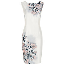 Buy Jacques Vert Petite Blurred Floral Dress, Multi Online at johnlewis.com