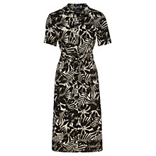 Buy Viyella Leaf Print Linen Shirt Dress, Natural Online at johnlewis.com