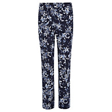 Buy Viyella Ditsy Print Capri Trousers, Navy Online at johnlewis.com