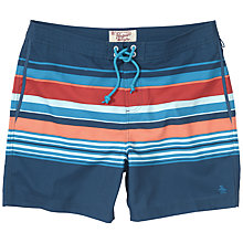 Buy Original Penguin Bold Stripe Swim Shorts, Blue/Multi Online at johnlewis.com