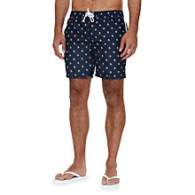 Buy Original Penguin All Over Print Swim Shorts, Navy Online at johnlewis.com