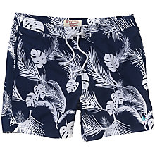 Buy Original Penguin Palm Leaf Swim Shorts, Blue Online at johnlewis.com