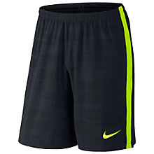 Buy Nike Select Strike Printed Football Shorts, Black/Volt Online at johnlewis.com
