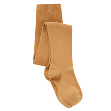 Buy John Lewis Girl Cotton Blend Tights, Mustard Online at johnlewis.com
